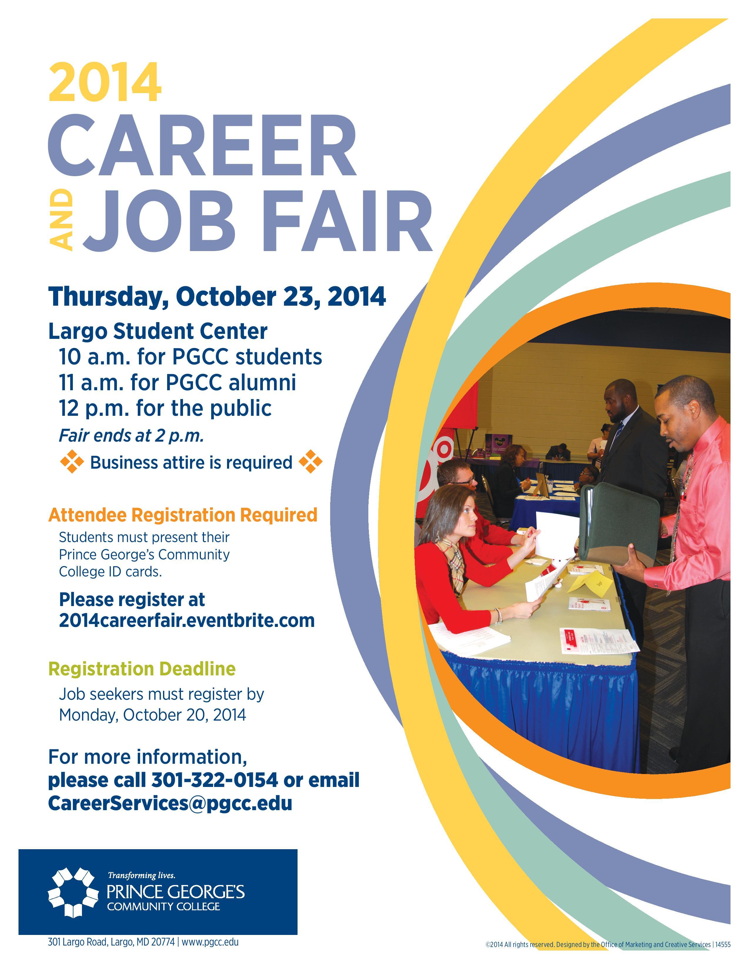 PGCC Career Fair 2014 flyer