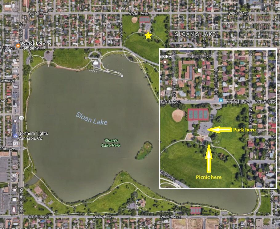 Sloans Lake Park Picnic Location