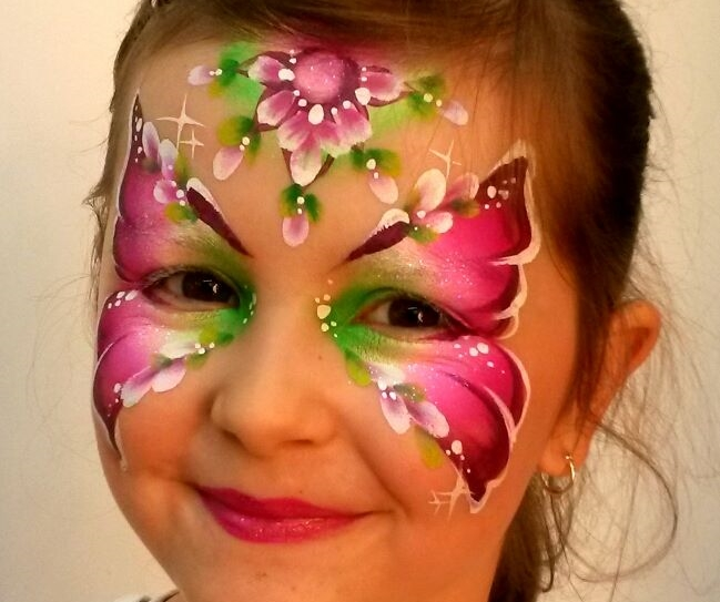 beautiful butterfly face paint mask by Olga Meleca