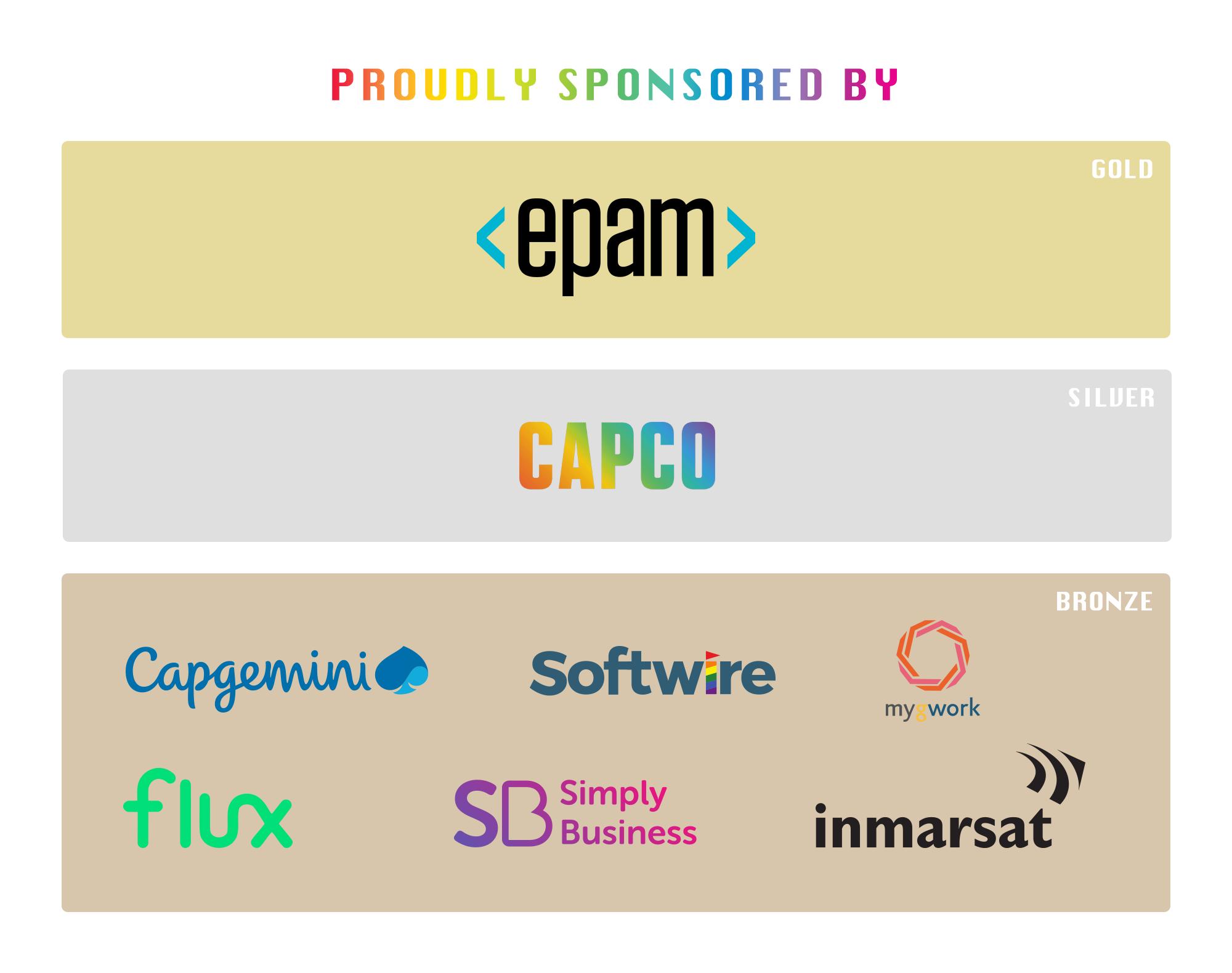 Intertech Pride in London 2019 Sponsors