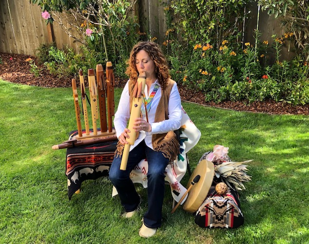 Sonya Jason plays Native American Flutes