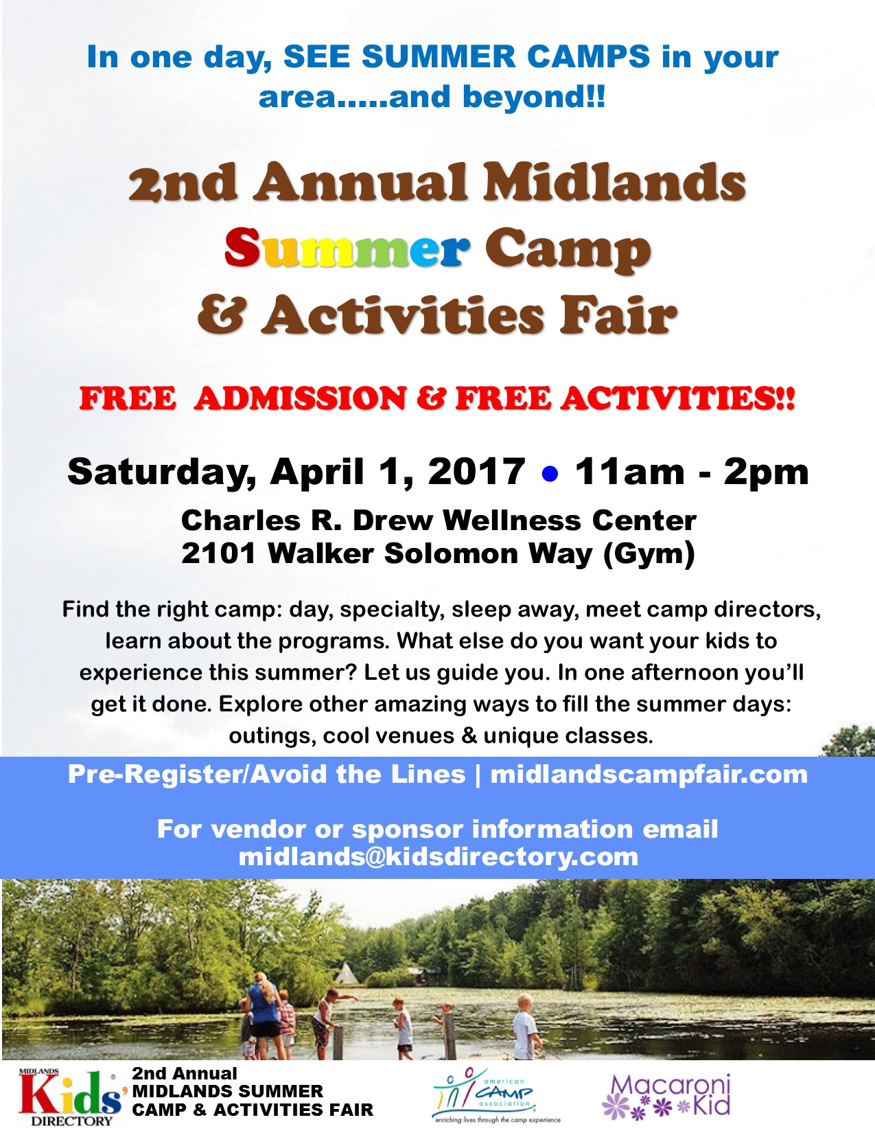 2nd Annual Midlands Summer Camp & Activities Fair