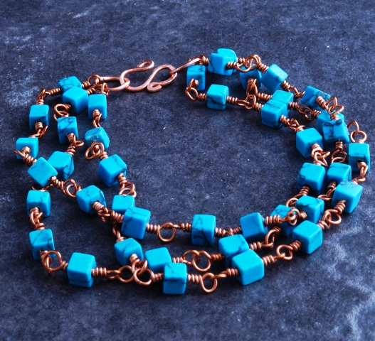 Turquiose Triple strand bracelet