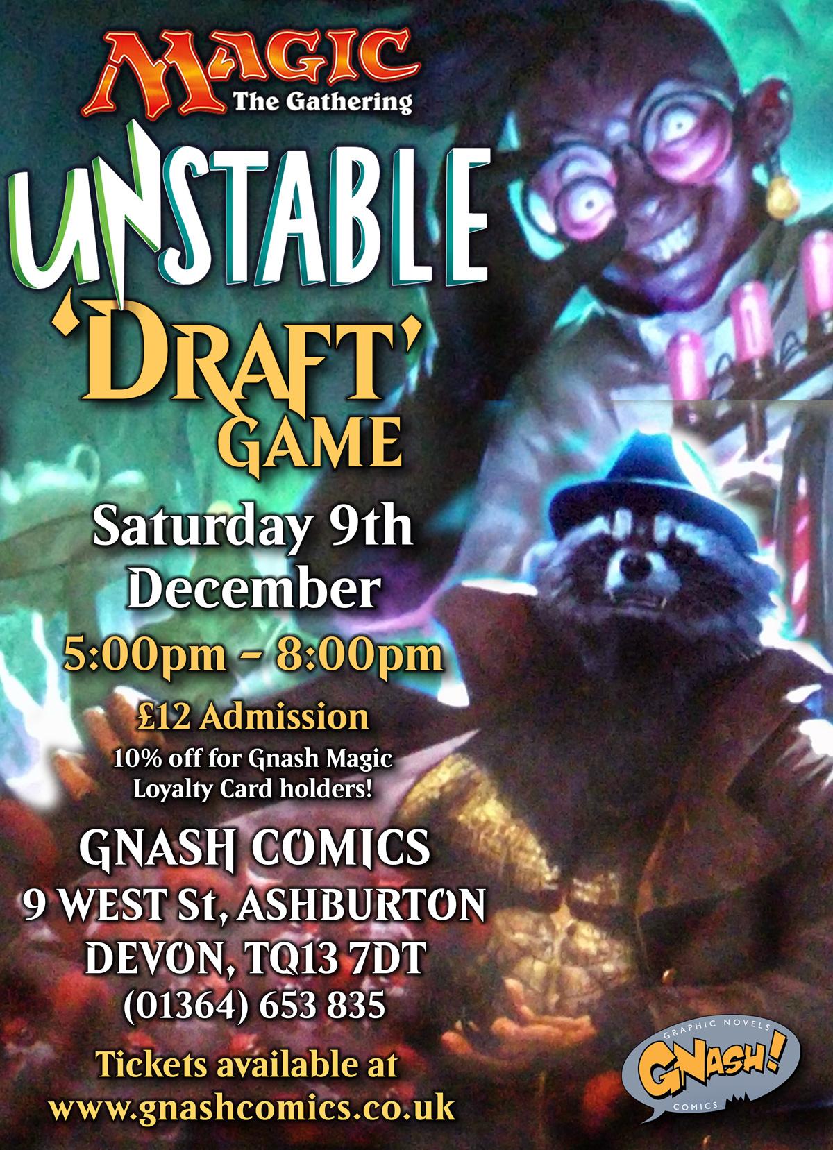 unstable draft magic the gathering mtg gnash comics devon ashburton