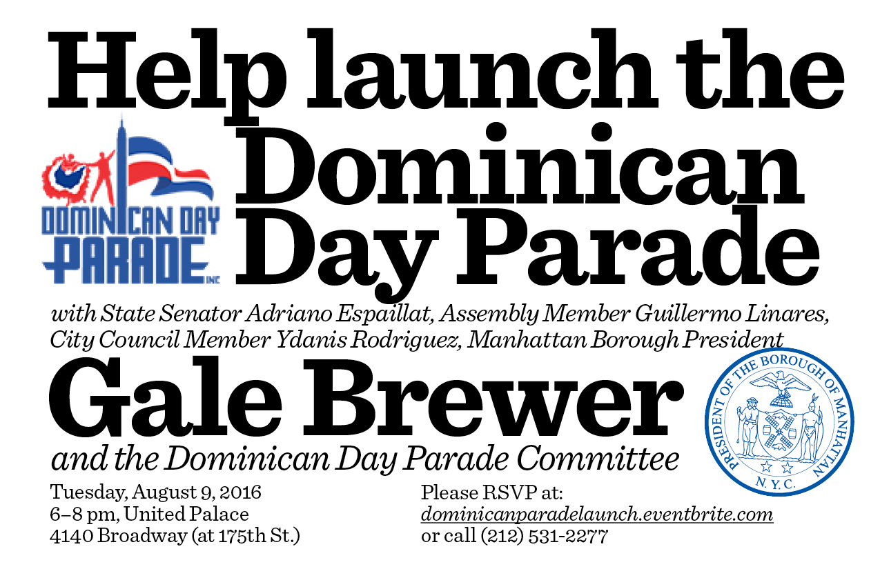 https://www.eventbrite.com/e/official-dominican-day-parade-launch-reception-tickets-26810300330?invite=&err=29&referrer=&discount=&affiliate=&eventpassword=