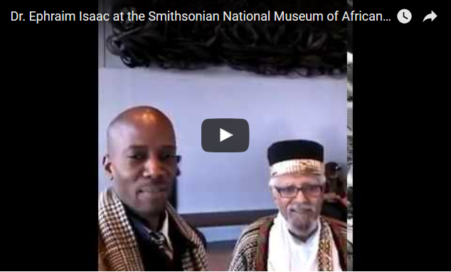 Dr. Ephraim Isaac at the Smithsonian National Museum of African American History & Culture