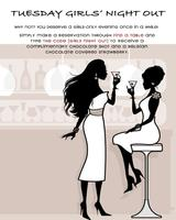 Tuesday Girls' Night Out FREE Chocolate Martini Shot at Ayza...