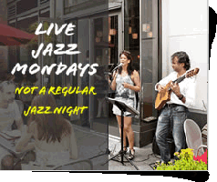 Live Jazz Music on Mondays Free Chocolate Shot