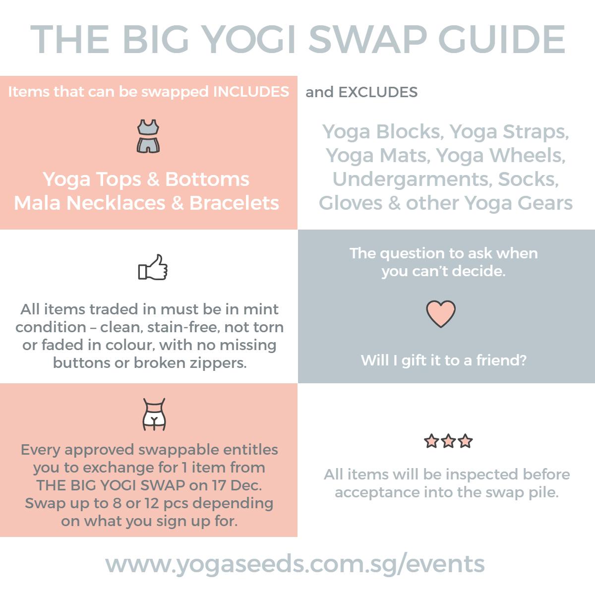 THE BIG YOGI SWAP GUIDE   Yoga Seeds
