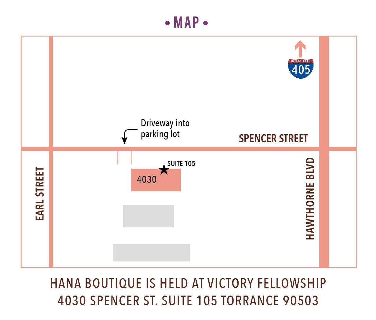 Hana Fall Boutique Map