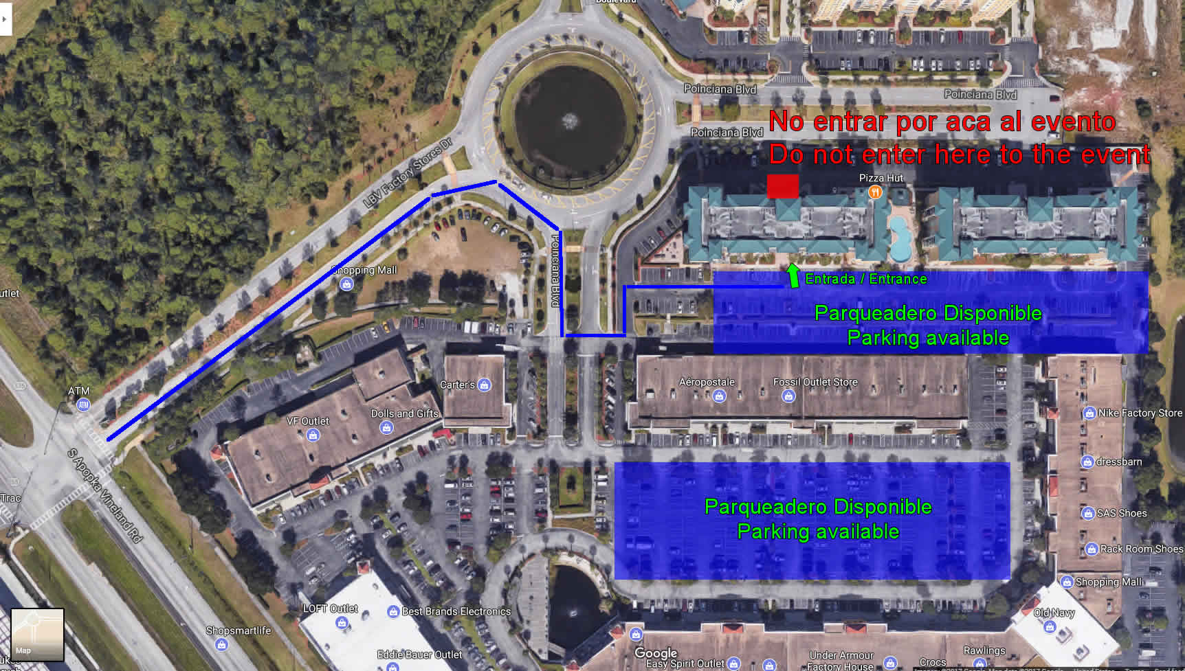 mapa ed ubicacion evento orlando
