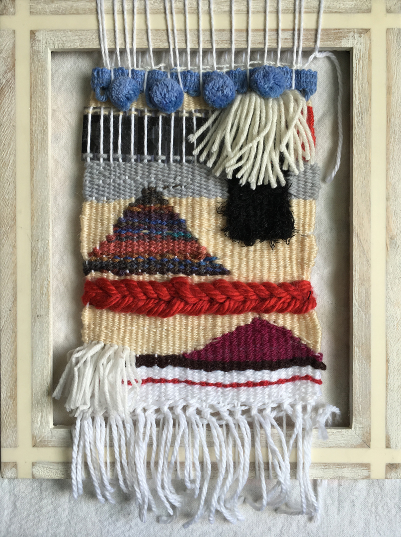 weaving with reclaimed materials