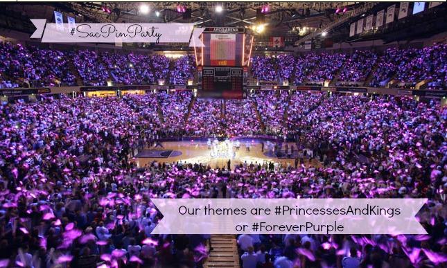 Sac Pin Party Princesses and Kings Sleep Train Arena Jan 4 2014