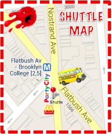 Shuttle Stop Map