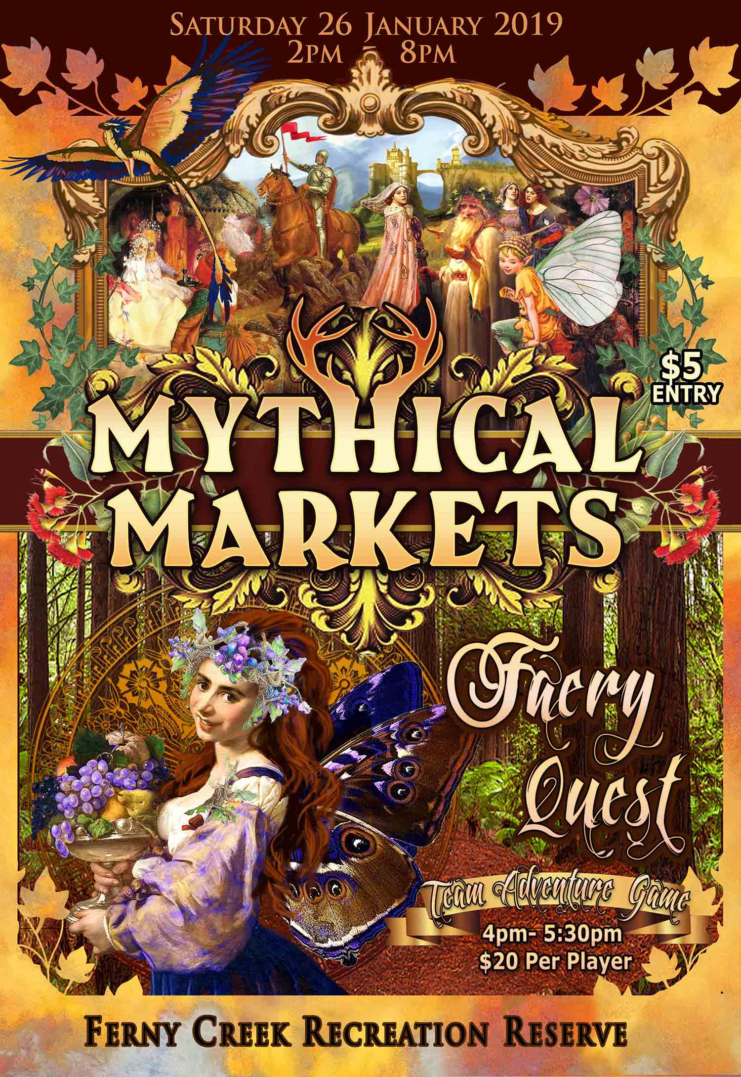 Mythical Markets 2019 Poster