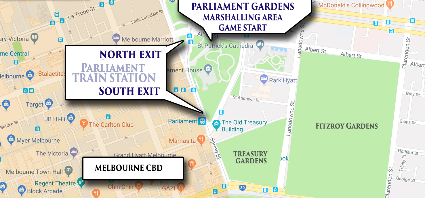 Parliament Gardens Map - Great Wizard Post Quest