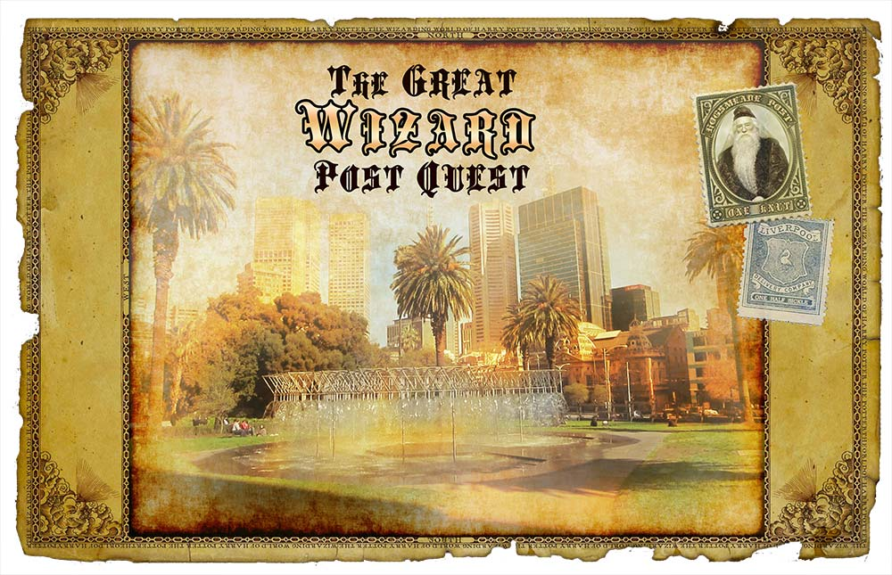 The Great Wizard Post Quest - Parliament Gardens Postcard