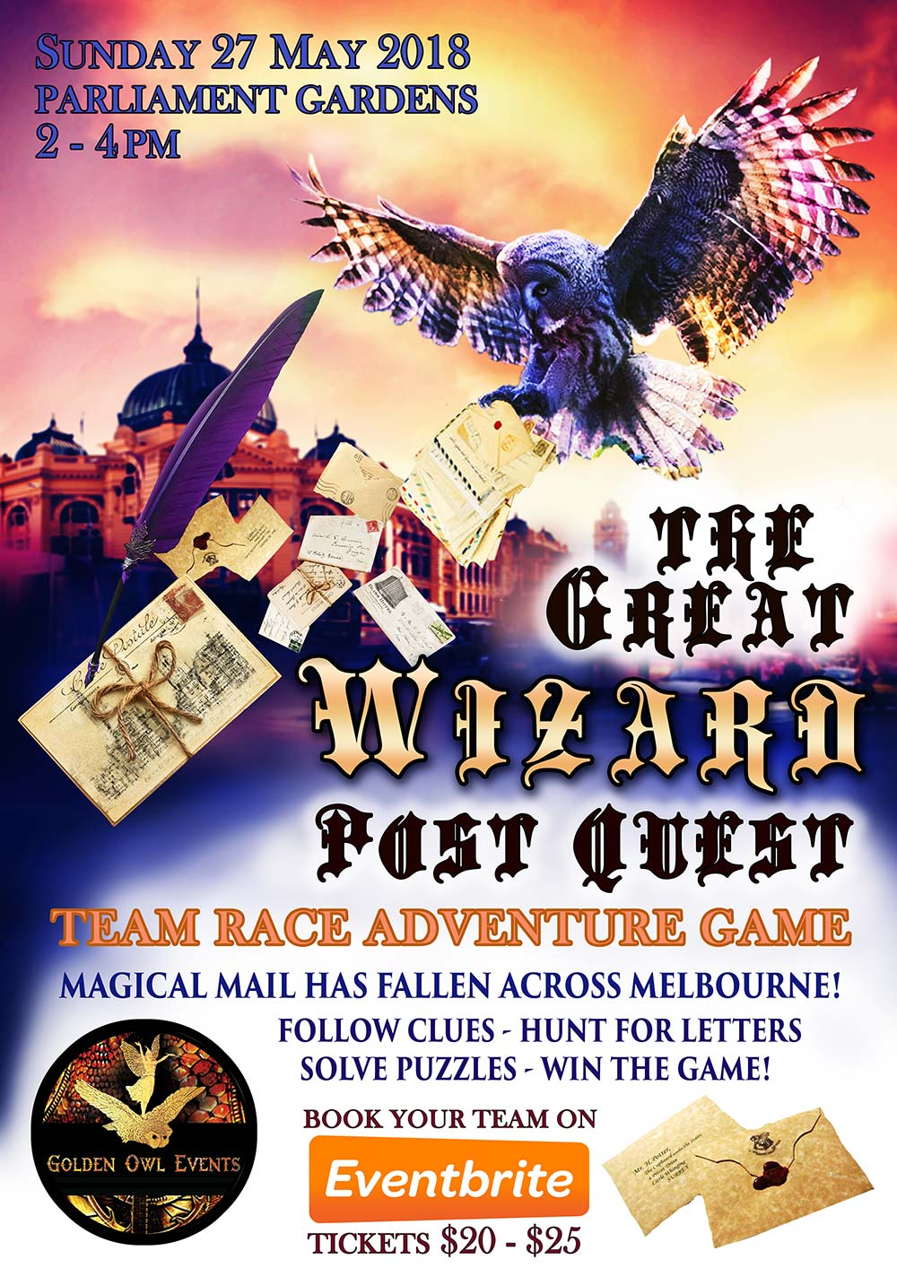 The Great Wizard Post Quest 2018 Quick Quills Poster