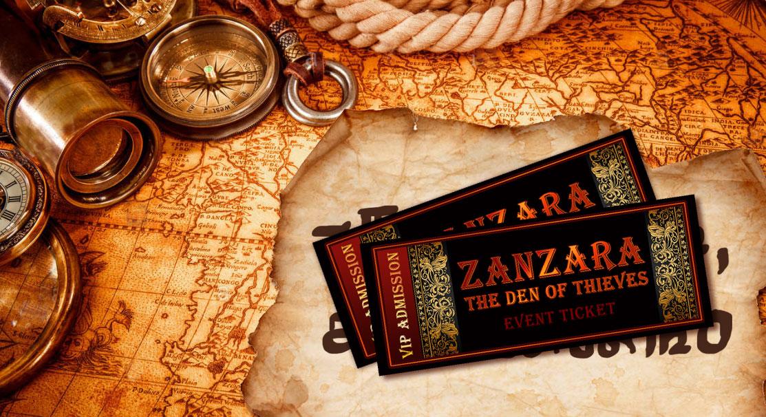 Zanzara - The First Clue - Tickets hide the Inscription