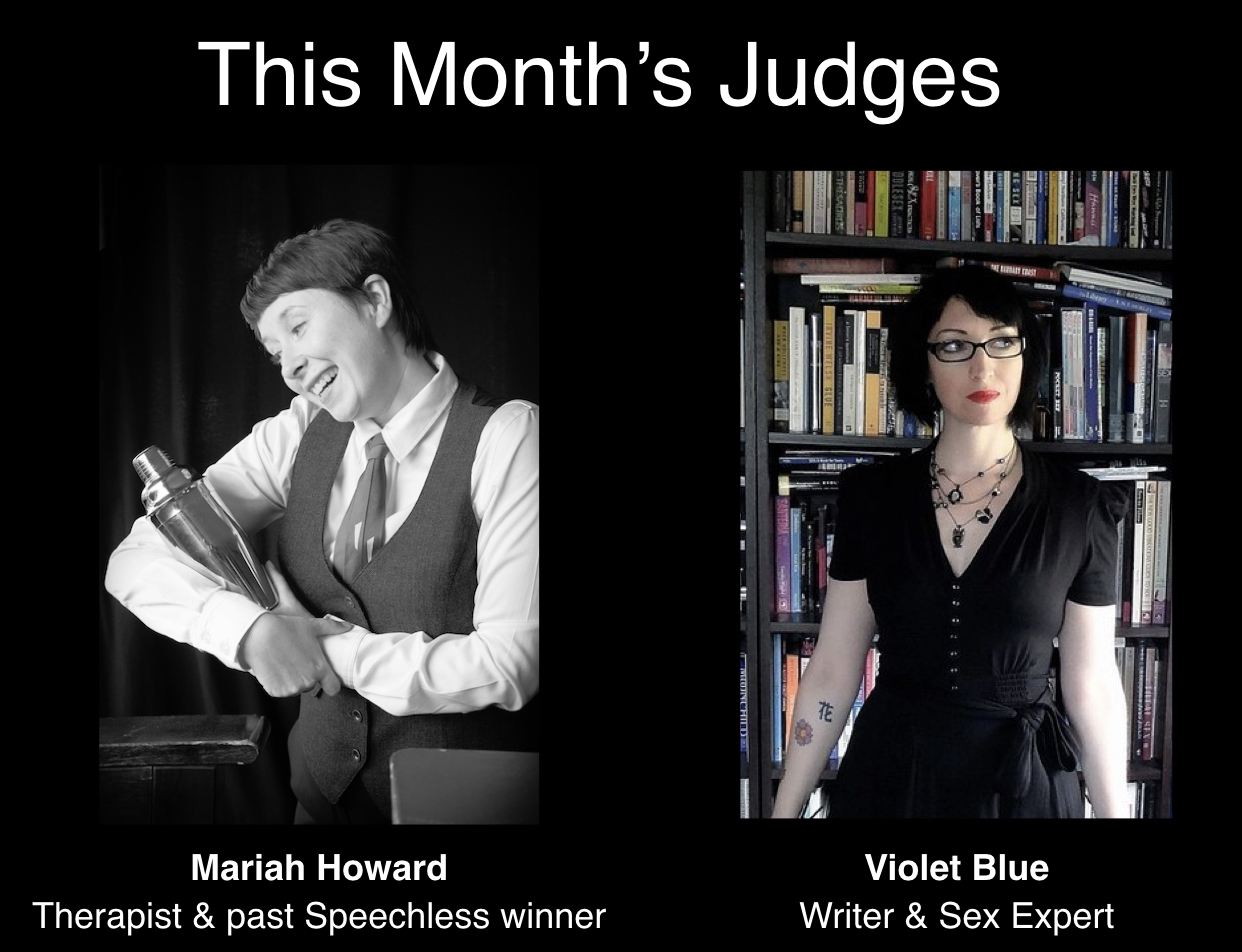 Mariah Howard and Violet Blue our judges for Feb 2019