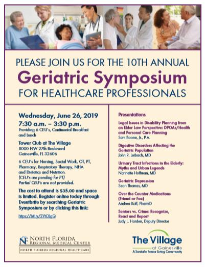 2019 Geriatric Symposium Flier