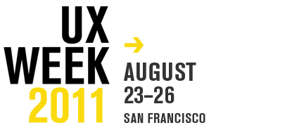 UX Week Logo with arrow and date