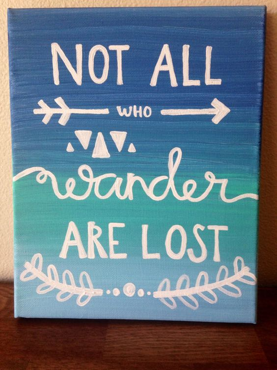 not all wanders are lost