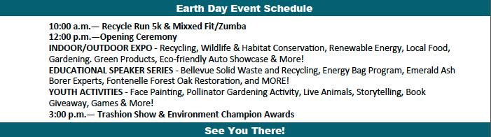 Earth Day Schedule