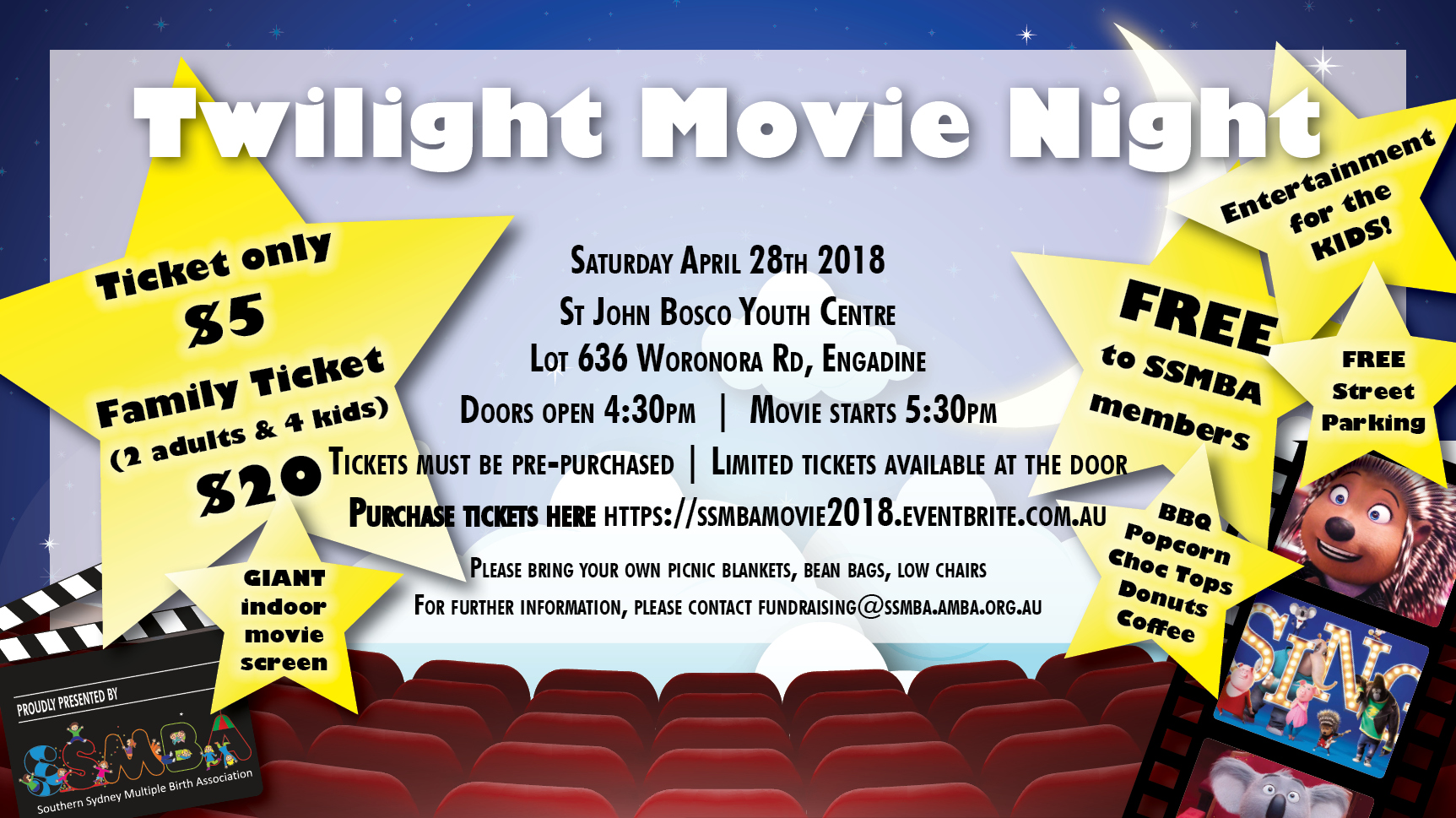 Movie Night Flyer - SING 2018