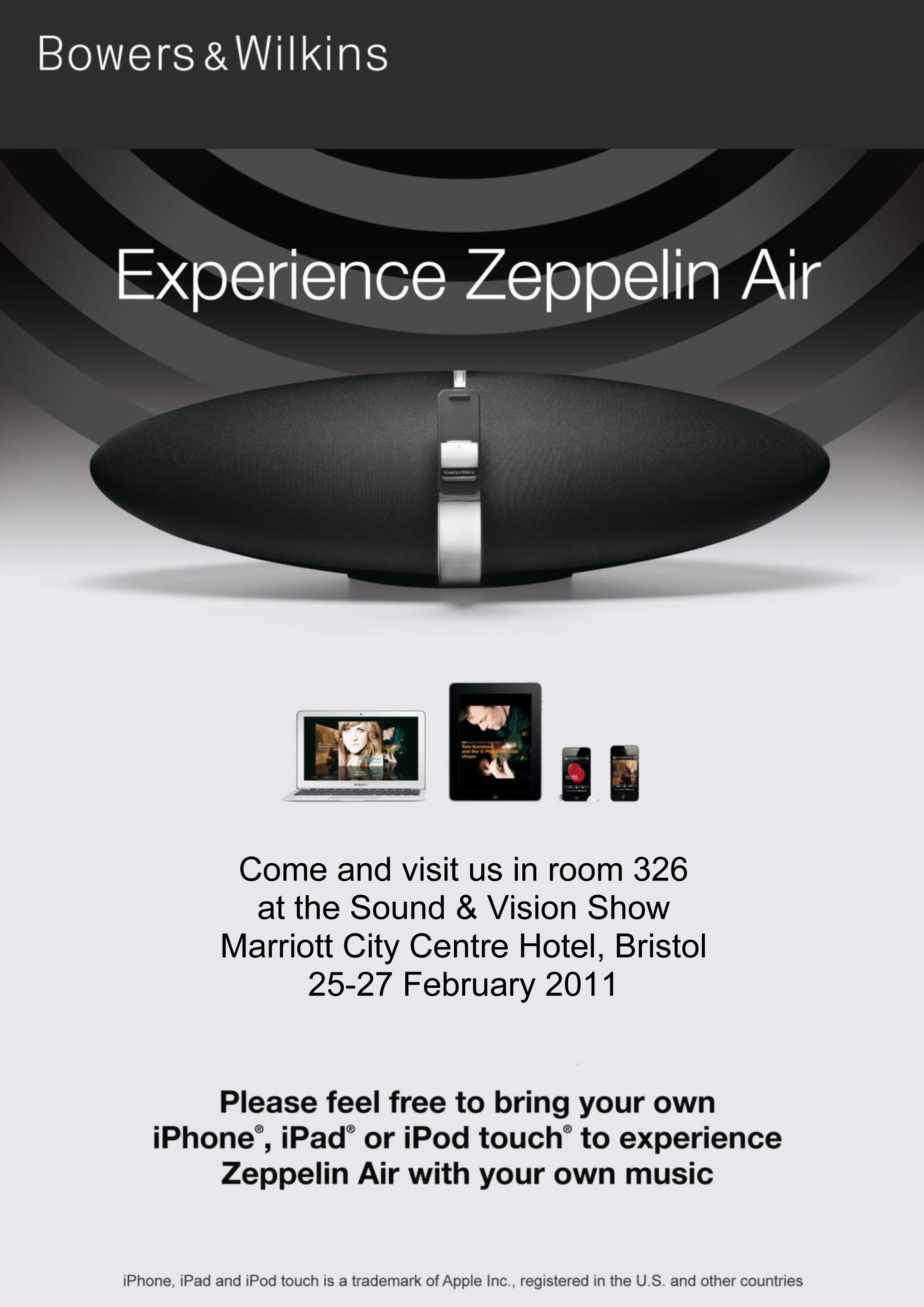 Experience Zeppelin Air at the Sound & Vision Show