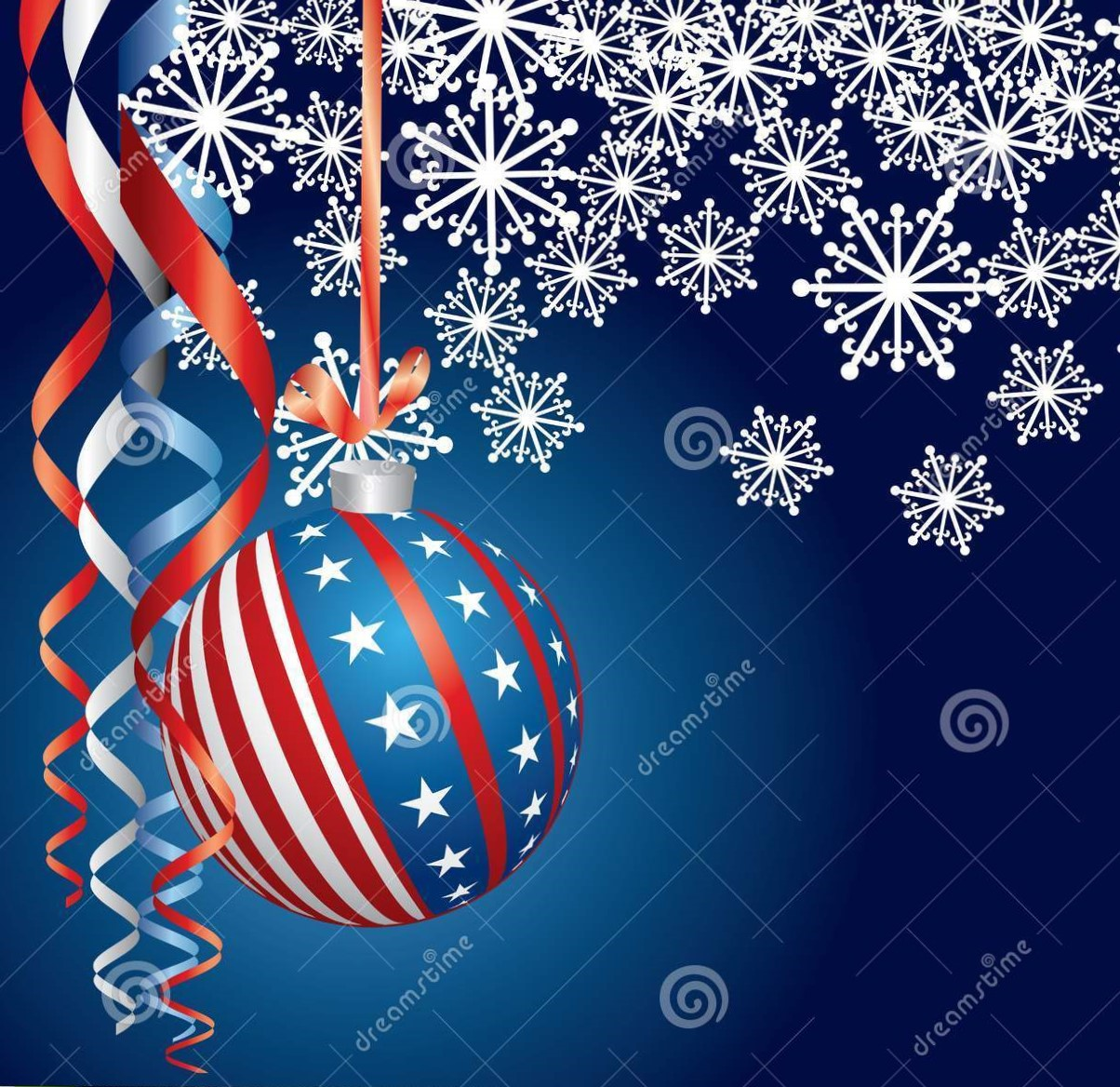 Patriot Christmas decorations