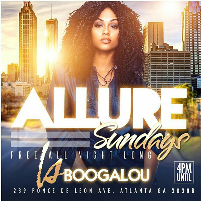 Allure Sunday Day Party NFL Game Watch Flyer