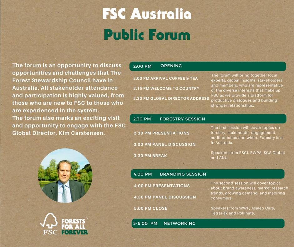 Australian Forum Agenda.