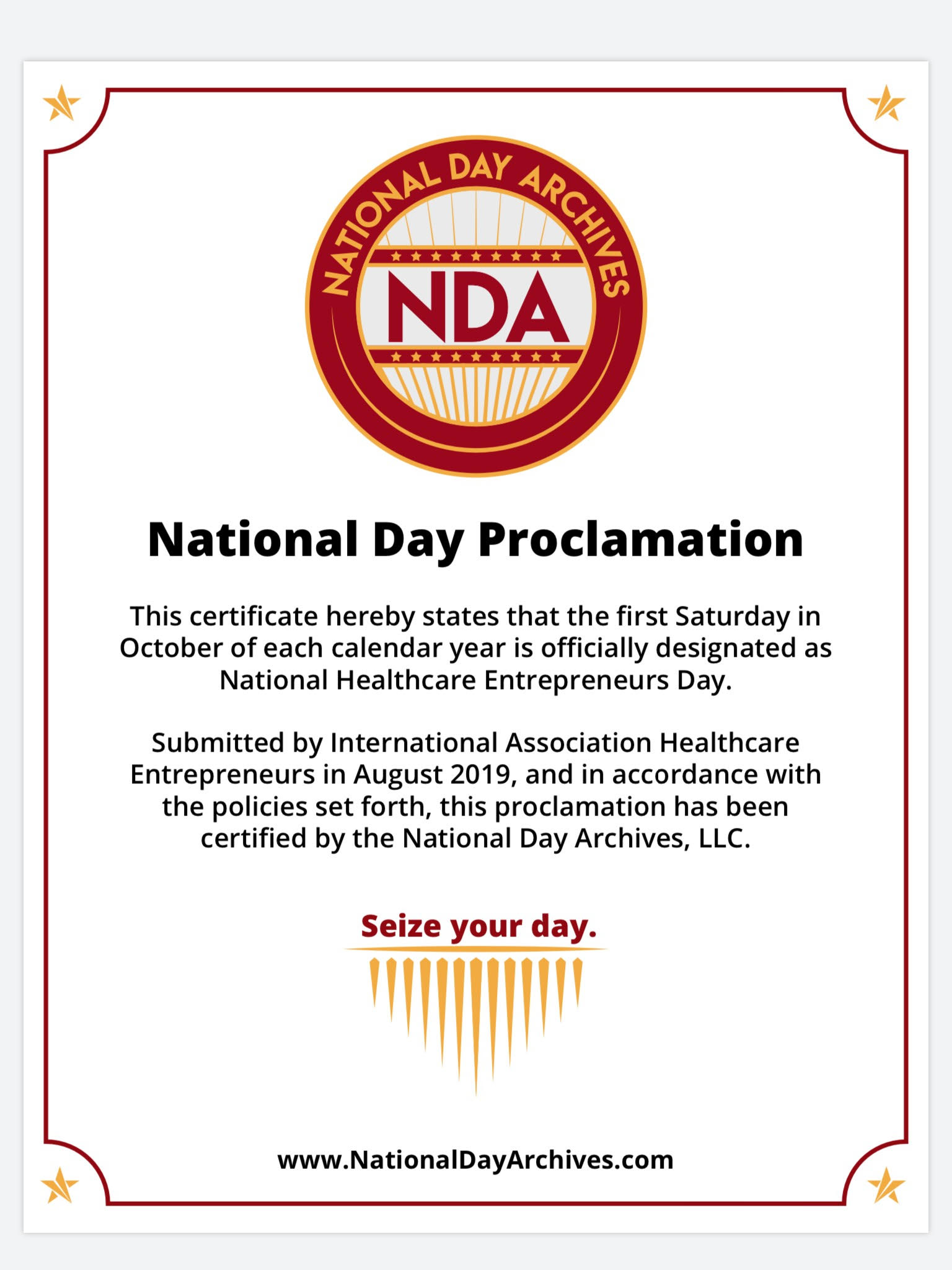 national day proclamation