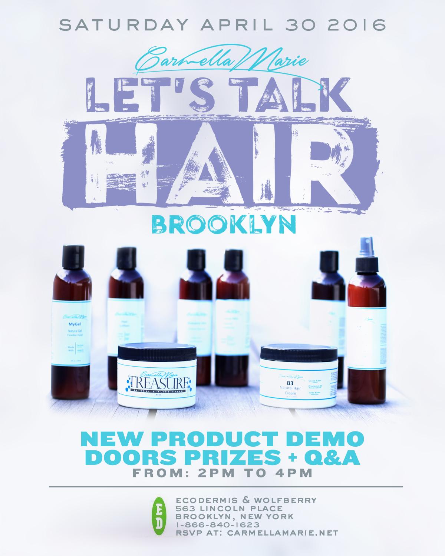 Let's Talk Hair Brooklyn Flier by Carmella Marie