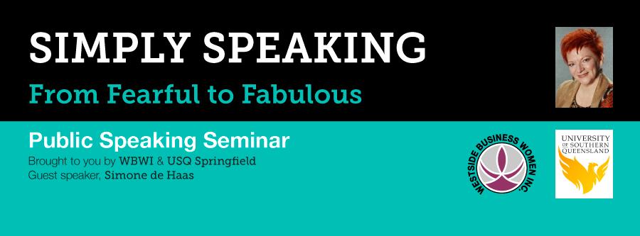 Simply Speaking - Public Speaking Seminar USQ