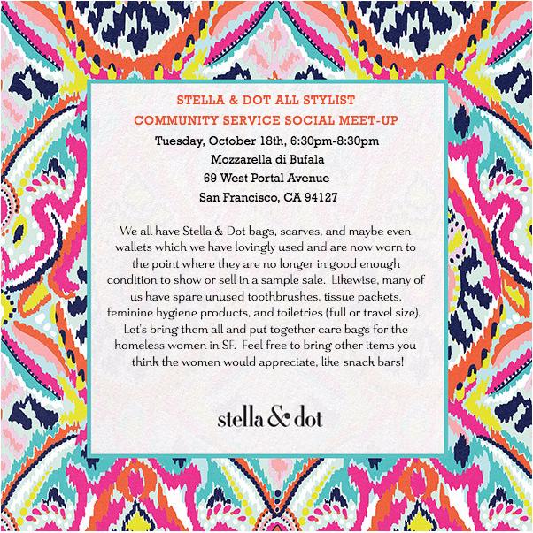 San francisco stella dot stylist meet up and local for Stella and dot san francisco