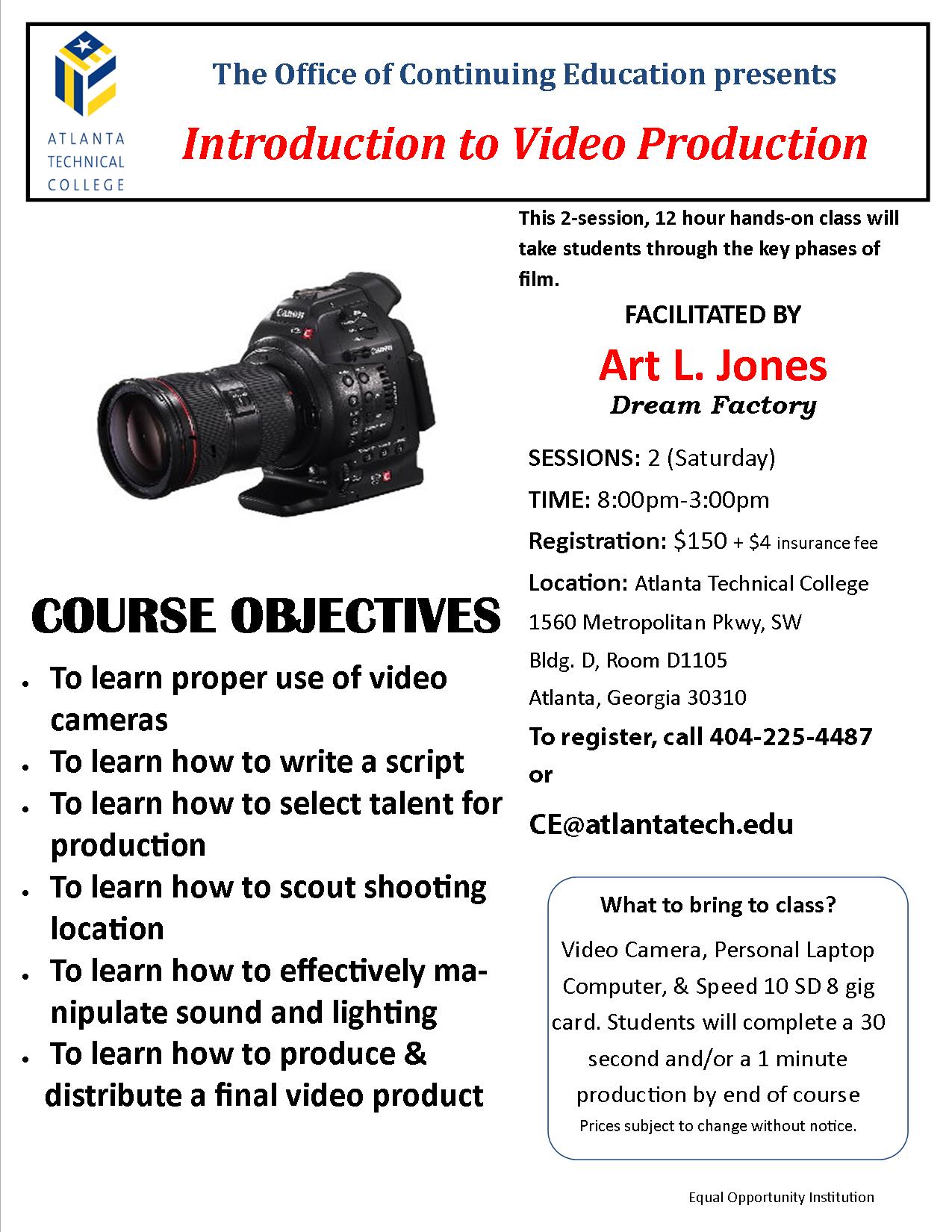 CE Video Production Flyer
