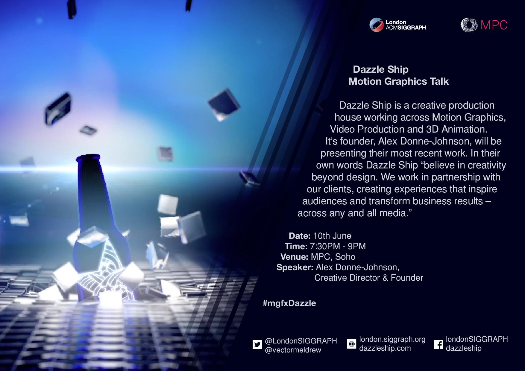 Dazzle Ship - Motion graphics Talk