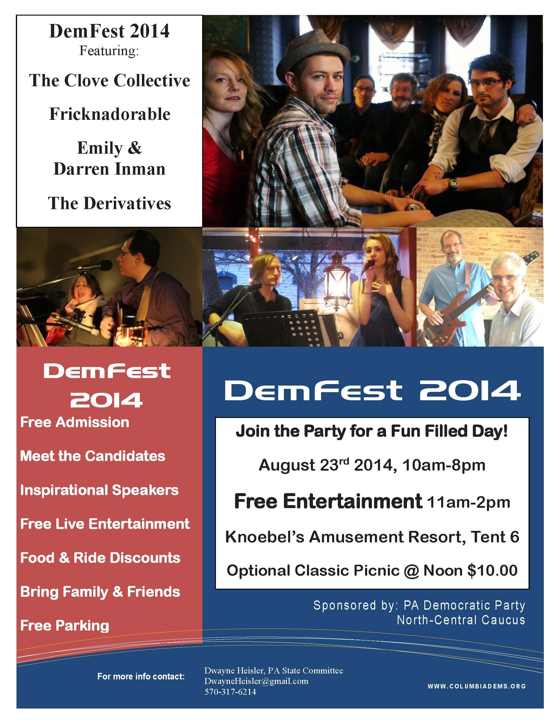 DemFest 2014 Flyer