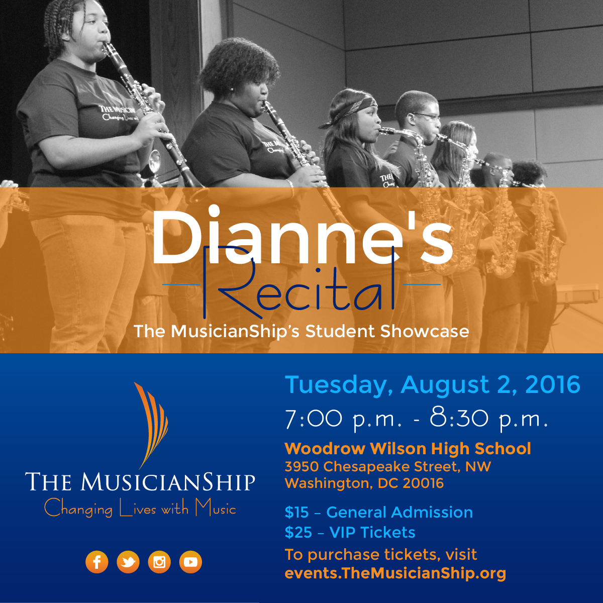 Dianne's Recital Flyer