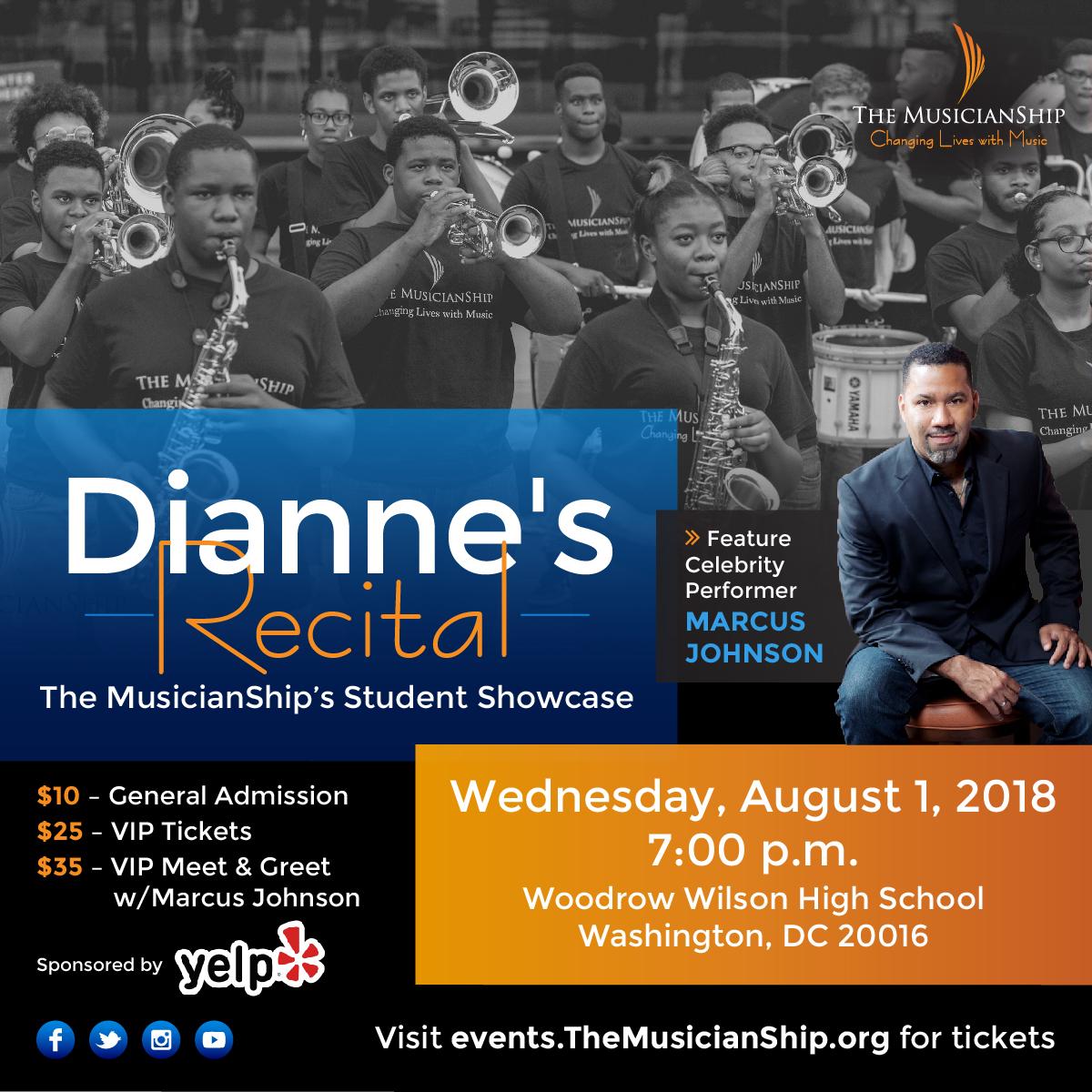 Dianne's Recital featuring Marcus Johnson