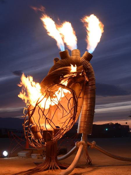 Pulse at sunset - Burning Man 2016