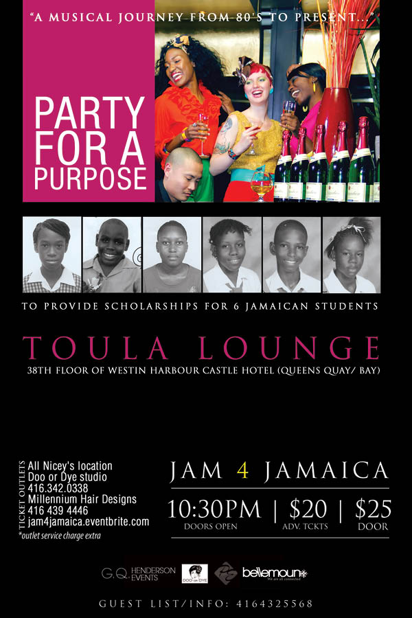 Jam 4 jamaica party for a purpose tickets sat apr 9 for 1 harbour square 38th floor toronto on m5j 1a6
