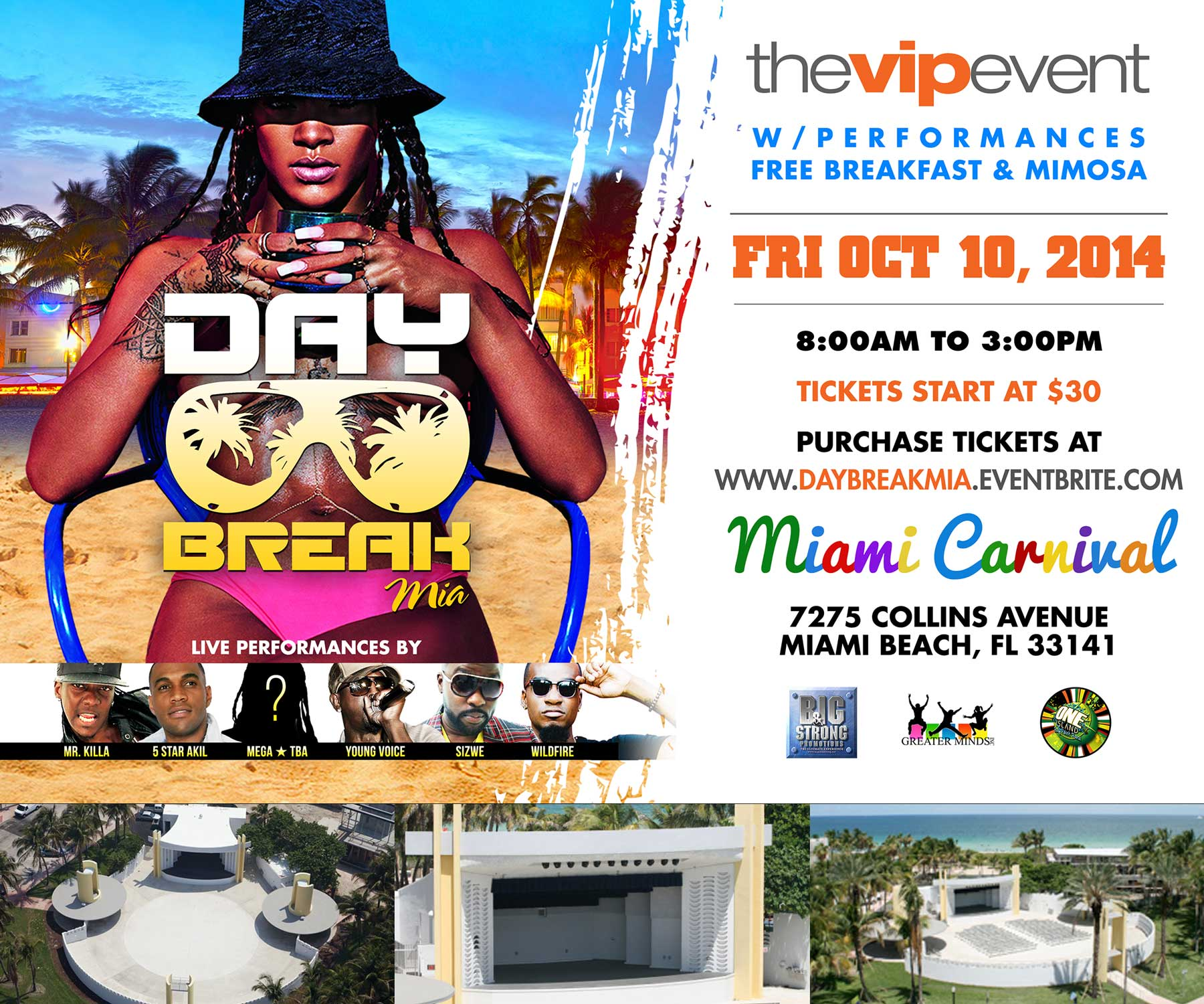 Day Break Mia Artist line up