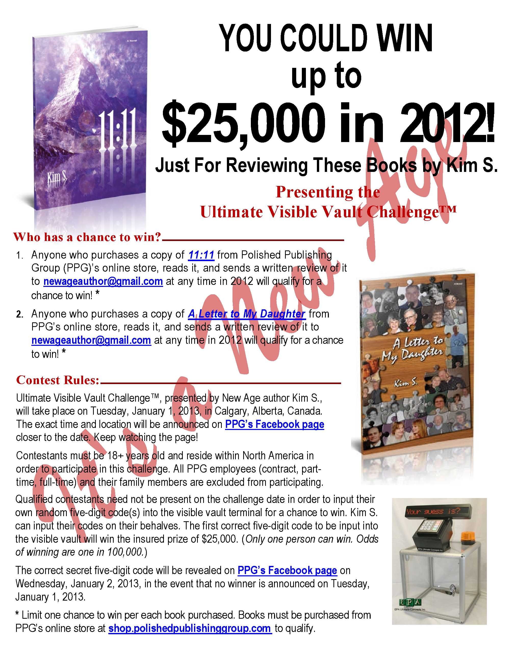 You could win up to $25,000 in 2012! Page 2 of 2