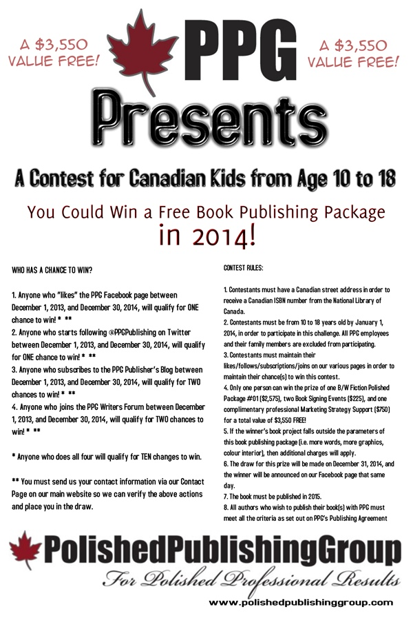 PPG 2014 Contest For Canadian Kids