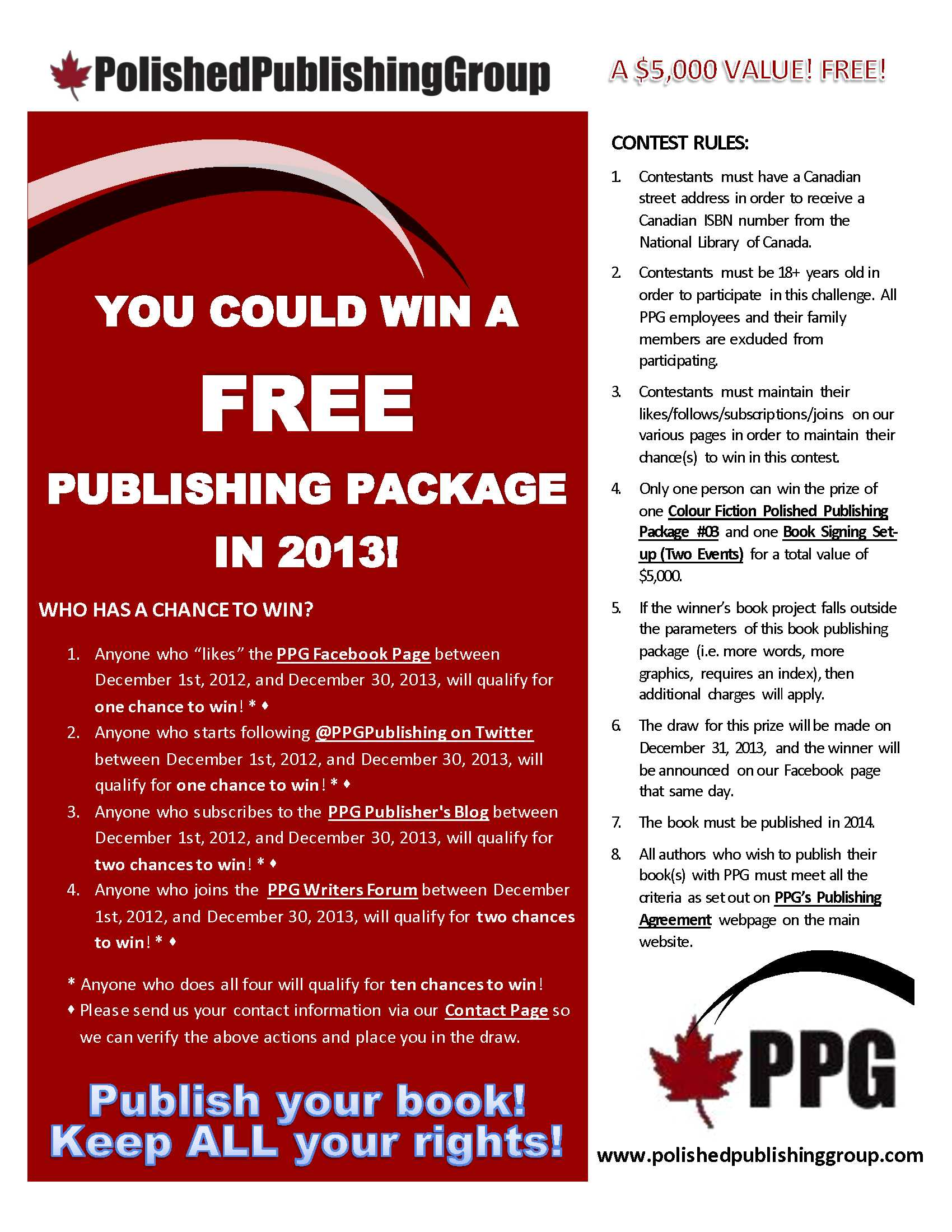 Publish Your Book For Free 2013 Contest