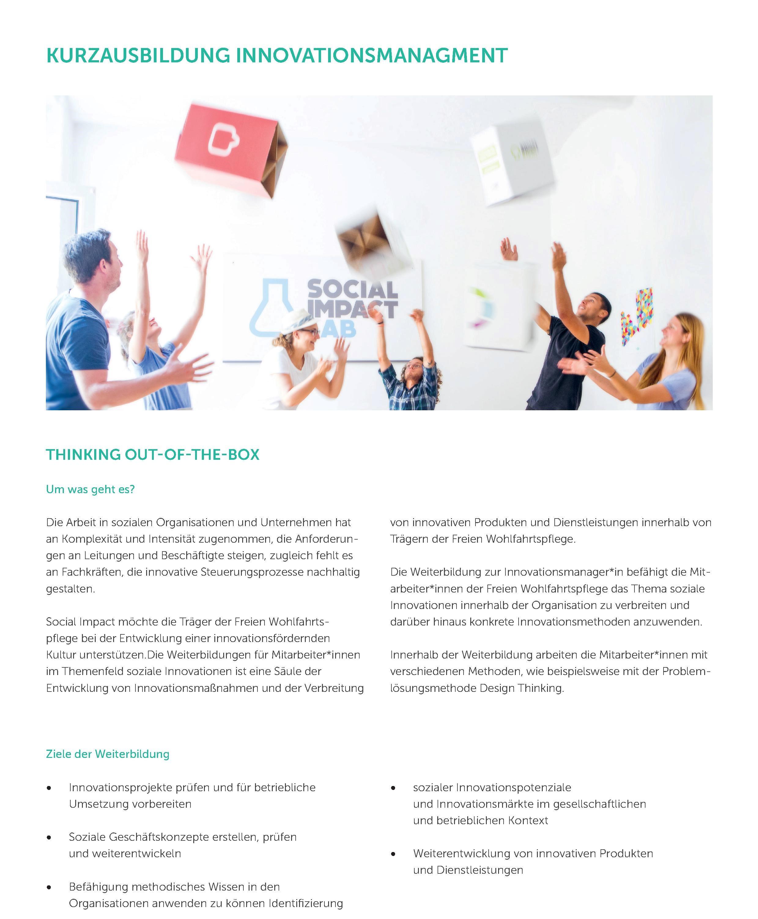 Kurzausbildung Innovationsmanagement
