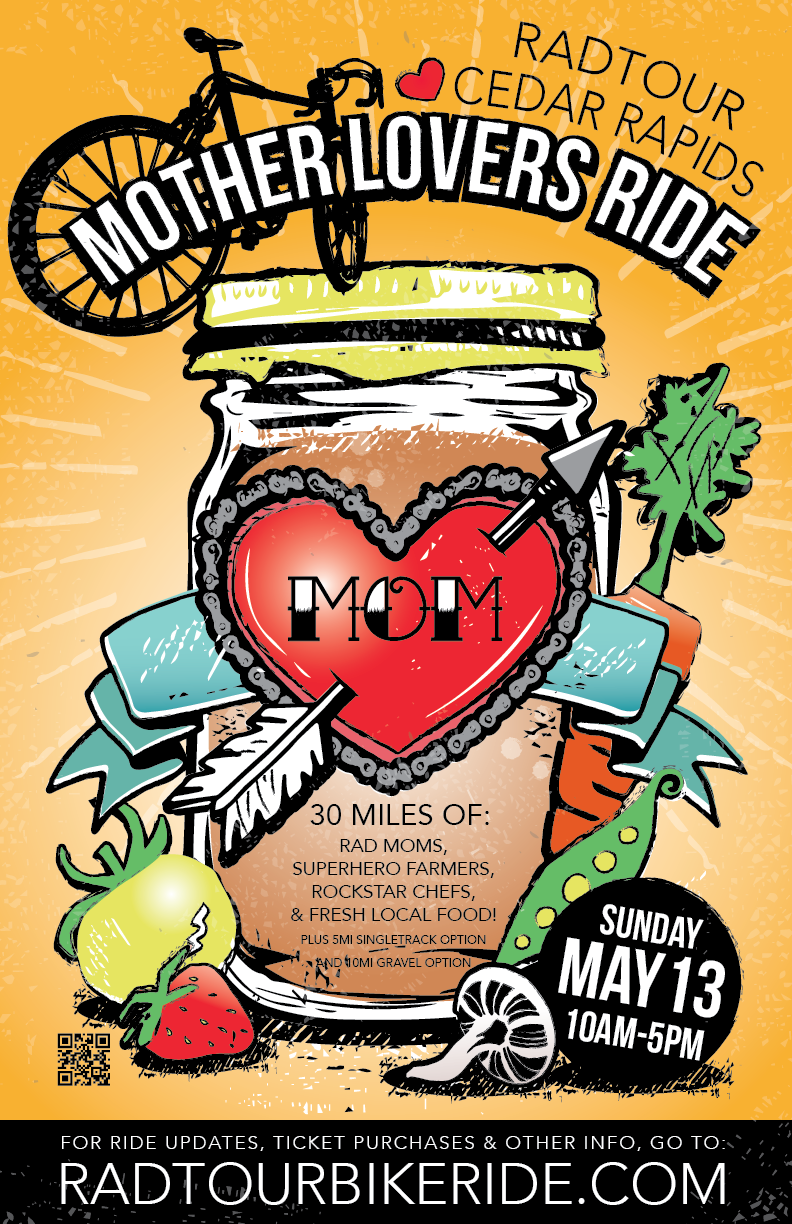 Celebrating Moms and Local Food by Bicycle
